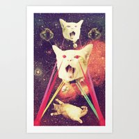 Galactic Cats Saga 4 Art Print