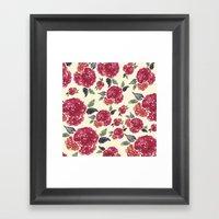Antique Floral Framed Art Print
