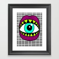 Eye'm Gonna Eat You Framed Art Print