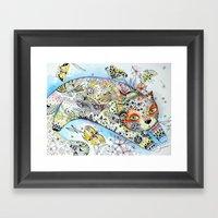 Butterfly Cat Framed Art Print
