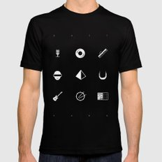 Tribute to Daft Punk, B&W. Mens Fitted Tee Black SMALL