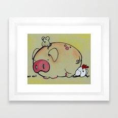 Pig Friends Framed Art Print