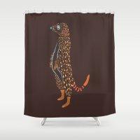Abstract Meerkat Shower Curtain