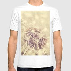 Dandelion Glow Mens Fitted Tee White SMALL