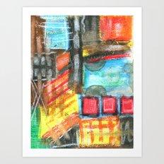 Crayon Color Explosion Art Print