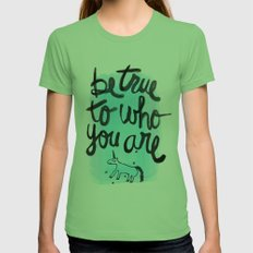 Be True Womens Fitted Tee Grass SMALL