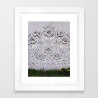 Stone Flowers Framed Art Print
