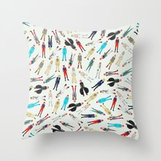 Floating Bowies Throw Pillow