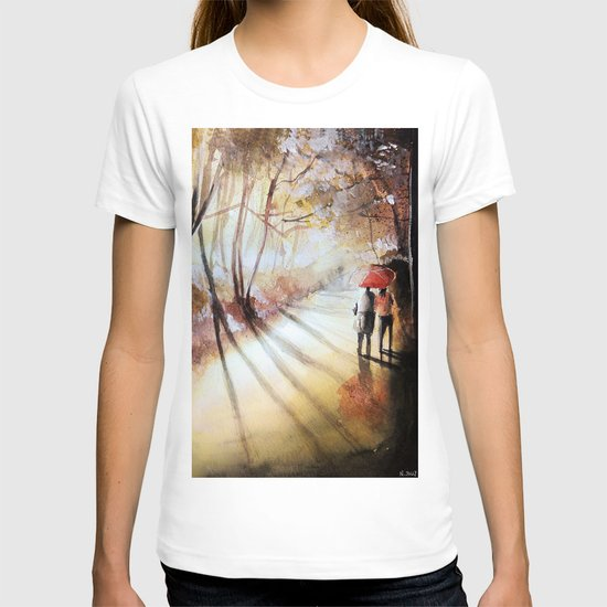 Break in the clouds - watercolor T-shirt
