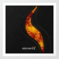 Elements   Fire Art Print