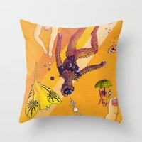 La Chute Vers Le Haut (T… Throw Pillow