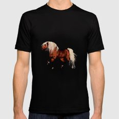 HORSE - Black Forest SMALL Mens Fitted Tee Black