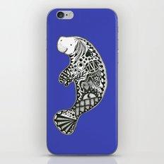 Blue Manatee iPhone & iPod Skin