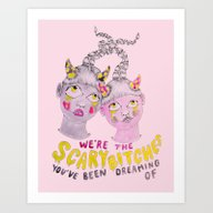 Art Print featuring We're The Scary Bitches … by Ambivalently Yours