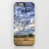 iPhone & iPod Case featuring Dramatic skies over the Farm by David Pyatt