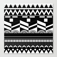 Graphic_Black&white #2 Canvas Print