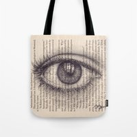Eye in a Book Tote Bag