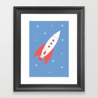 #78 Rocket Framed Art Print