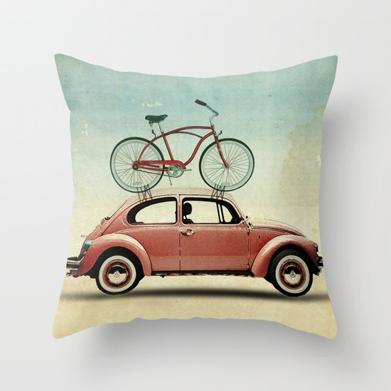 VW bike rack Throw Pillow