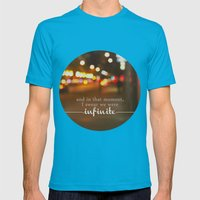 perks of being a wallflower - we were infinite Mens Fitted Tee Teal SMALL