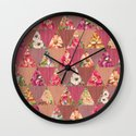 GEOMETRIC MODERN FLOWERS Wall Clock
