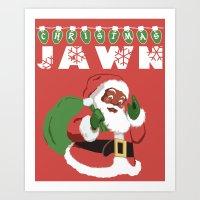 Christmas Jawn Art Print