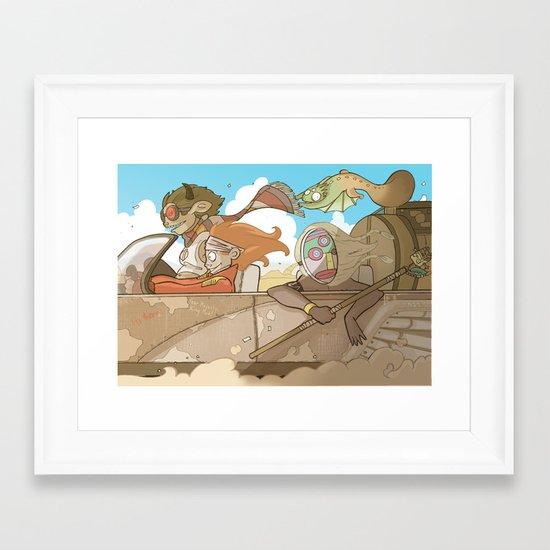 On the Road 2: Distracted Framed Art Print