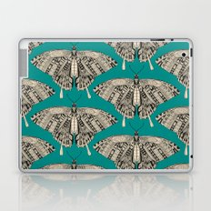 swallowtail butterfly teal black Laptop & iPad Skin