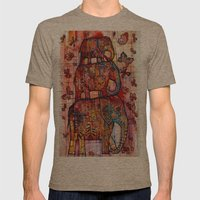 Elephants Mens Fitted Tee Tri-Coffee SMALL
