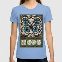 Hope Womens Fitted Tee Tri-Blue SMALL