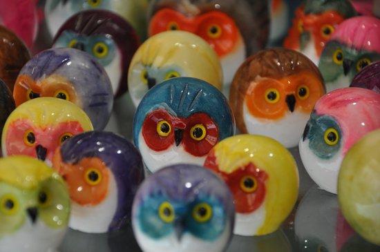 Alabaster Owls Art Print