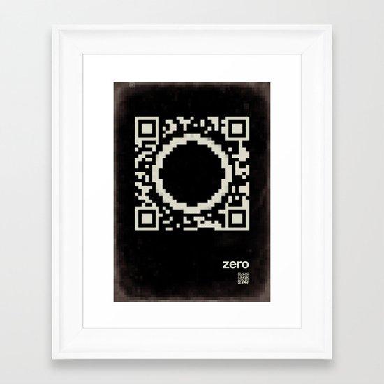 QR zero Framed Art Print