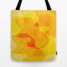 Orange Abstract Shapes Tote Bag