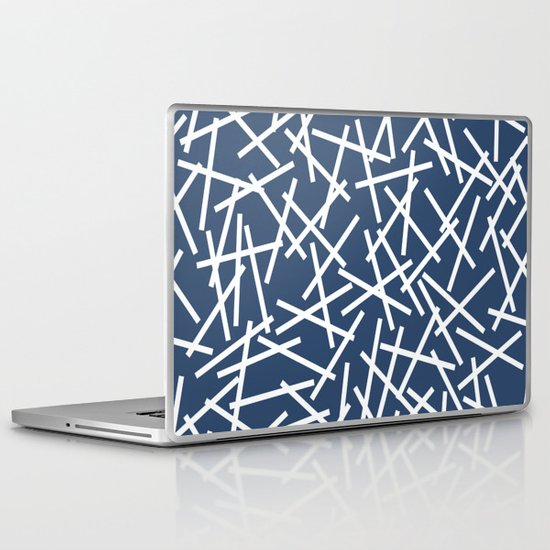 Kerplunk Navy and White Laptop & iPad Skin