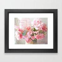 Paris Impressionistic Roses Framed Art Print