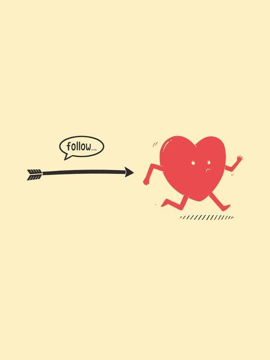 Follow the Heart Canvas Print