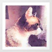 Cat Nick Art Print