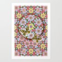 In the Garden of Love Mandala Art Print