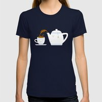 Tea Time! Womens Fitted Tee Navy SMALL