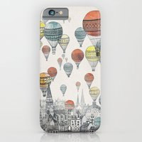 black iPhone & iPod Cases featuring Voyages over Edinburgh by David Fleck