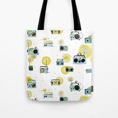 Listen Up! Radio Birds Tote Bag