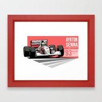 Ayrton Senna - 1993 Adel… Framed Art Print