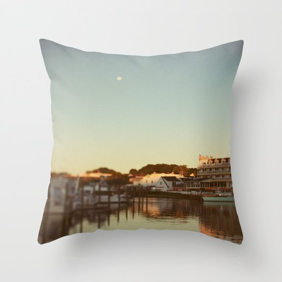 Harbor Moon Throw Pillow