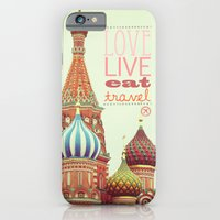 iPhone & iPod Case featuring Love, Live, Eat, Travel by happeemonkee