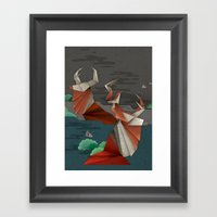 Origami Deer Framed Art Print