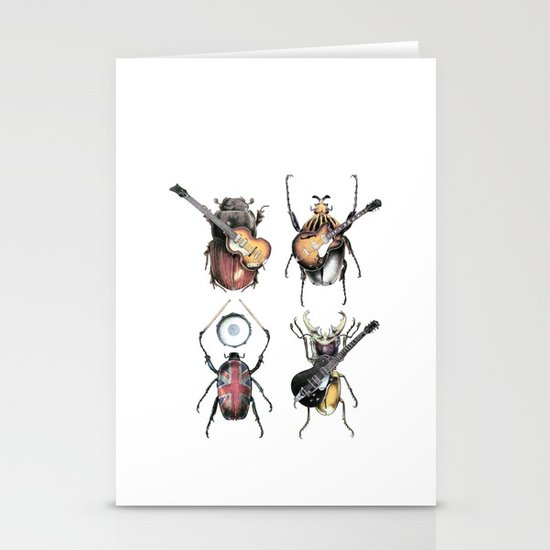 Meet the Beetles (white option) Stationery Card
