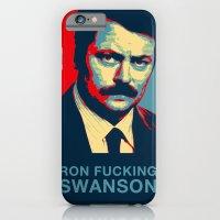 iPhone & iPod Case featuring Ron F***ing Swanson by Søren Schrøder
