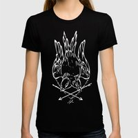 Two Birds Womens Fitted Tee Black SMALL