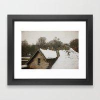 Cold doves Framed Art Print