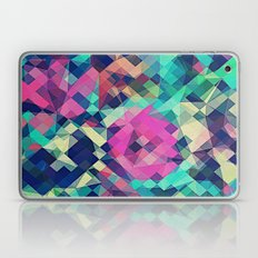 Fruity Rose - Fancy Colorful Abstraction Pattern Design (green pink blue) Laptop & iPad Skin